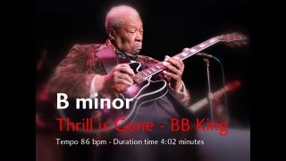 Thrill is Gone Backing Track